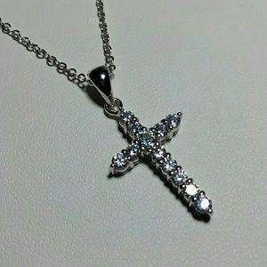 Jewelry - Simulated Diamond Cross Necklace